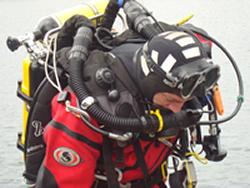 Trimix Scuba Diver